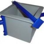 Tipar cubic cu latura de 150 mm, din PVC, model EURO CUBO, conform UNI EN 12390-1